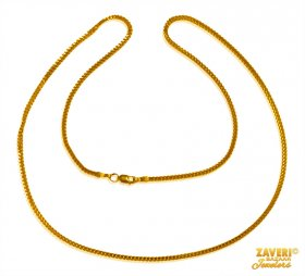 Box Chain 22Kt Gold (18 In) ( Plain Gold Chains )
