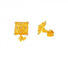 22K Gold Earrings ( 22K Gold Tops )