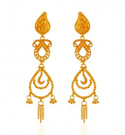 22kt Yellow Gold Long Earrings