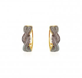 18K Clip on Diamond Earrings ( Diamond Earrings )
