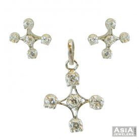 Indian Pendant Set(22K) ( White Gold Pendant Sets )