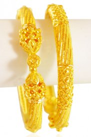 22KT Gold pipe Kada (2 PCs)