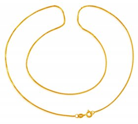 22 Karat Gold Box Chain ( Plain Gold Chains )