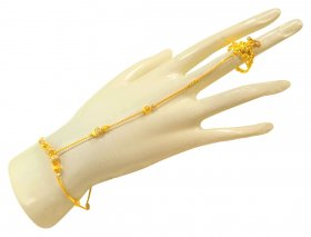 22kt Gold Bracelet with Ring (1 pc) ( 22K Ladies Bracelets )