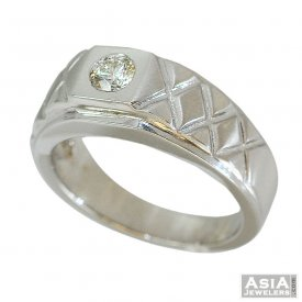 WG Mens Diamond Ring 18K