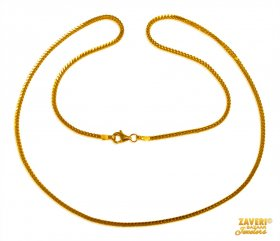 Box Chain 22 Kt Gold (18 In)