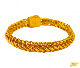 22kt Gold Mens Mountain Bracelet  ( 22K Mens Bracelets )