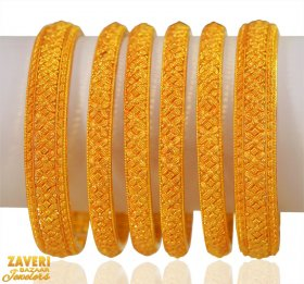 22K Gold Traditional Bangle set ( Gold Bangle Sets )