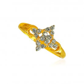22kt Gold Signity Stones Ring
