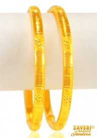 22 KT Gold Pipe Bangles (2pcs) ( 22K Gold Bangles )