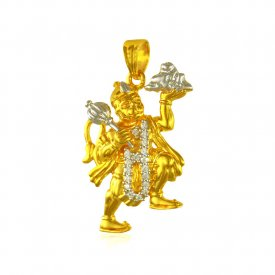 Lord Hanuman 22k Gold Pendant ( Ganesh, Laxmi, Krishna and more )