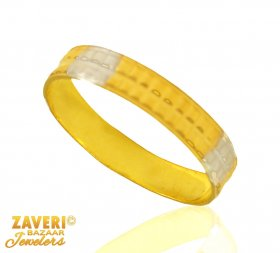 Fancy Two Tone Gold Band