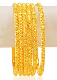 22K Gold Bangles Set (6 PCs)