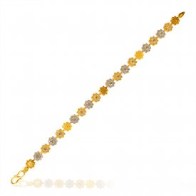 22K Yellow Gold Ladies Bracelet ( 22K Ladies Bracelets )