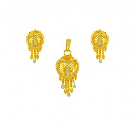 22kGold Fancy Pendant Set