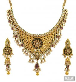 22k Exclusive Kundan Necklace Set