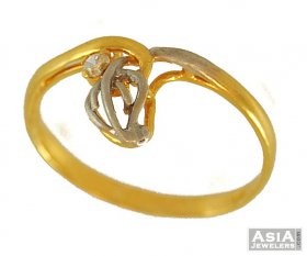 Gold Two Tone Ring ( 22K Gold Rings )