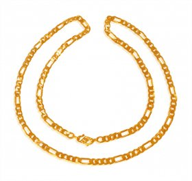 22Kt Gold Figaro Chain