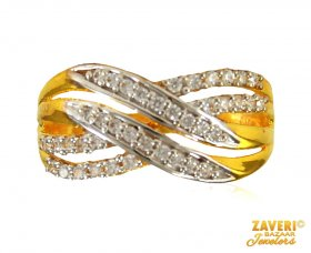 22 KT Gold Signity Ring for ladies ( Stone Rings )