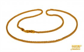 22Kt Gold Two Tone Ladies Chain ( Gold Fancy Chains )