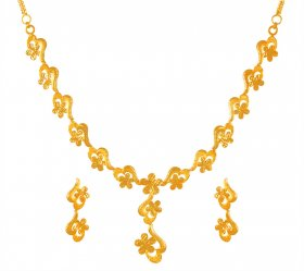 22kt Gold Necklace Set for Ladies
