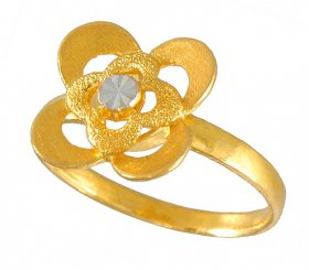 22k Gold 2 Tone Ring ( 22K Gold Rings )