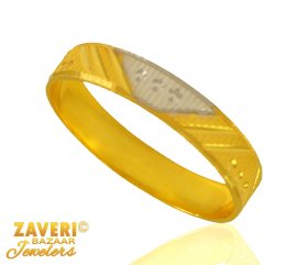 22 kt Gold Two Tone Band ( Gold Wedding Bands )
