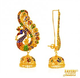 Peacock Exclusive Jhumki Earrings