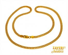 22 Karat Gold Cuban Link Chain  ( Mens Gold Chain )