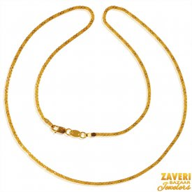 22 Kt Gold Flat Chain (18 In) ( Plain Gold Chains )