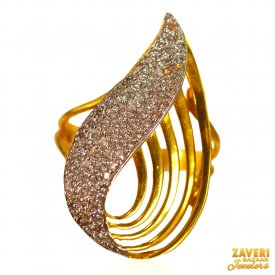 22KT Gold fancy ring for ladies ( Stone Rings )