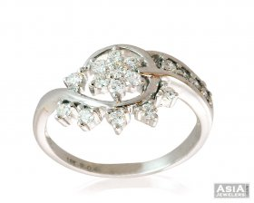 Floral Shaped Diamond Ring 18k ( Diamond Rings (Ladies) )