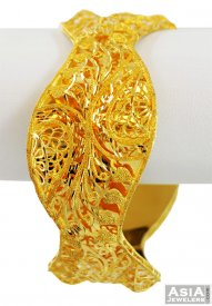 21K Fancy Yellow Gold Bangle (1 pc) ( 22K Gold Bangles )