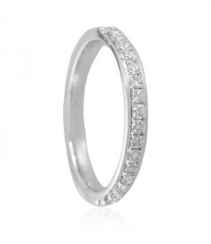 White Gold 18K Diamond Band ( Diamond Rings (Ladies) )
