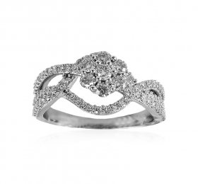18K White Gold Diamond Ring ( Diamond Rings (Ladies) )
