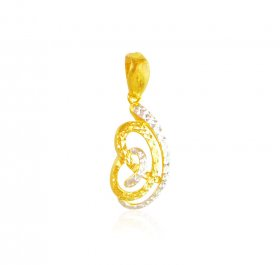 22kt Gold Two Tone Pendant