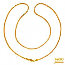 22kt Gold Two Tone Chain (18 Inch) ( Gold Fancy Chains )